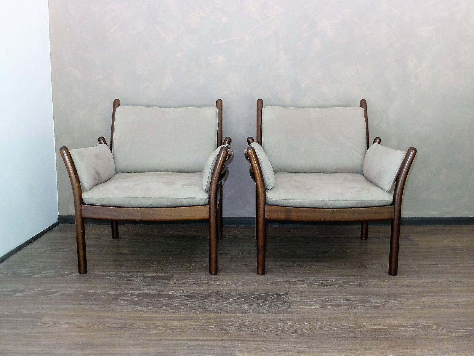 Eitelkeit Sofa Alcantara Sammlung Von Vintage Armchairs By Illum Wikkelsø For Silkeborg,