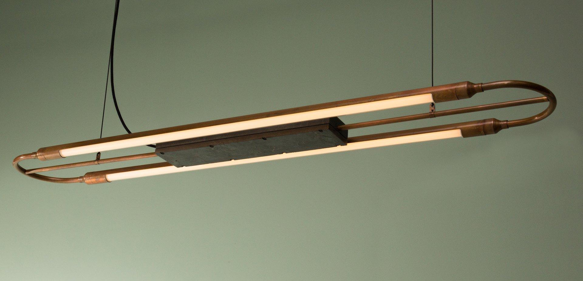 Große Deckenlampe mit Kupferspitze von Blom & Blom Editions