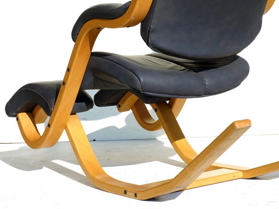 Stokke Ergonomische Stoel : Vintage gravity leather rocking chair by peter opsvik for stokke