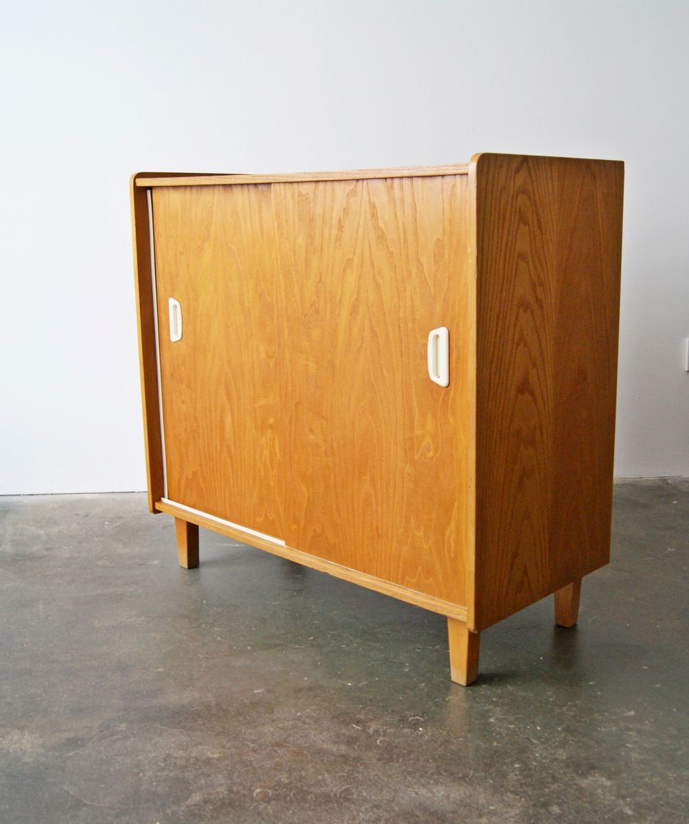 Oak Dresser With Sliding Doors 1950s For Sale At Pamono