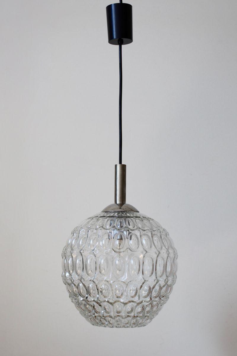 h ngelampe mit glasschirm 1960er bei pamono kaufen. Black Bedroom Furniture Sets. Home Design Ideas