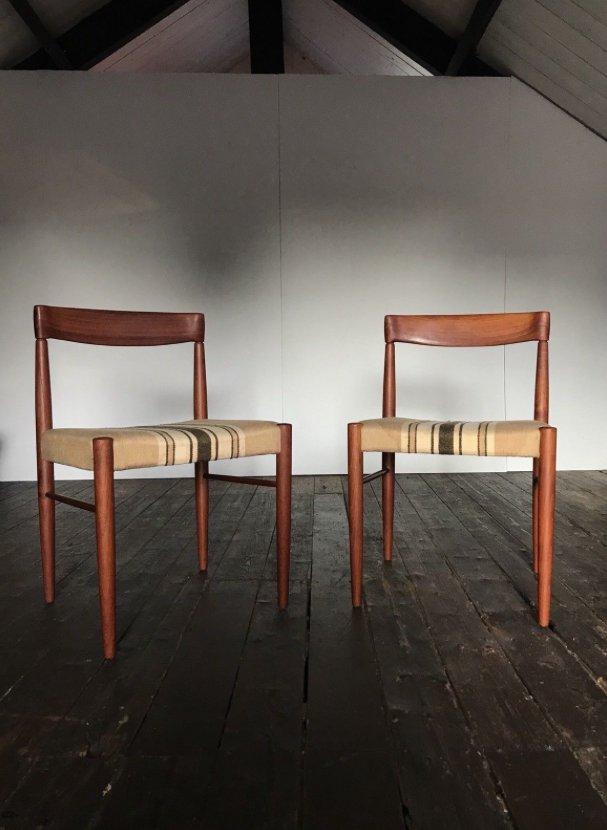 Chaises de Salle à Manger Vintage en Teck par H. W. Klein pour ...