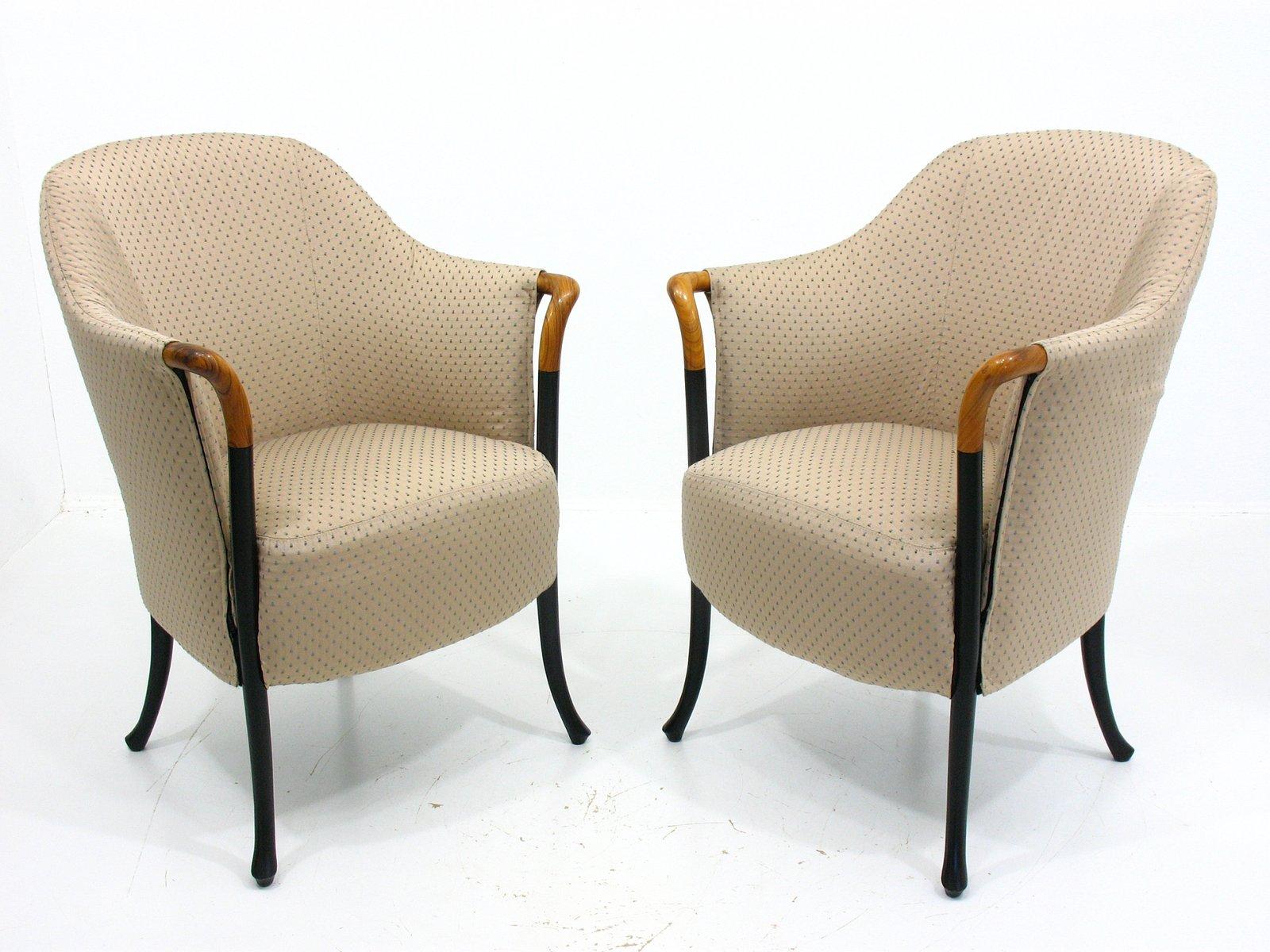 Italienische vintage sessel von giorgetti 2er set bei for Sessel italienisches design