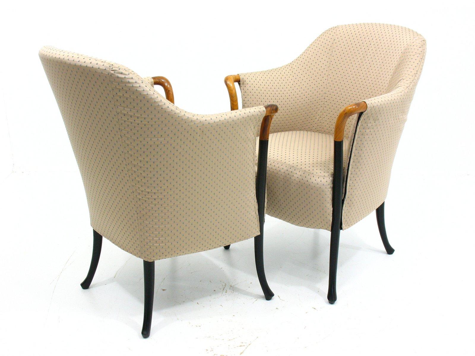 italienische vintage sessel von giorgetti 2er set bei pamono kaufen. Black Bedroom Furniture Sets. Home Design Ideas