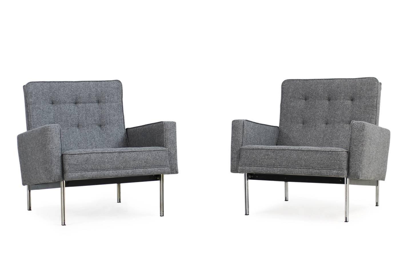 Parallel Sessel von Florence Knoll, 1950er, 2er Set