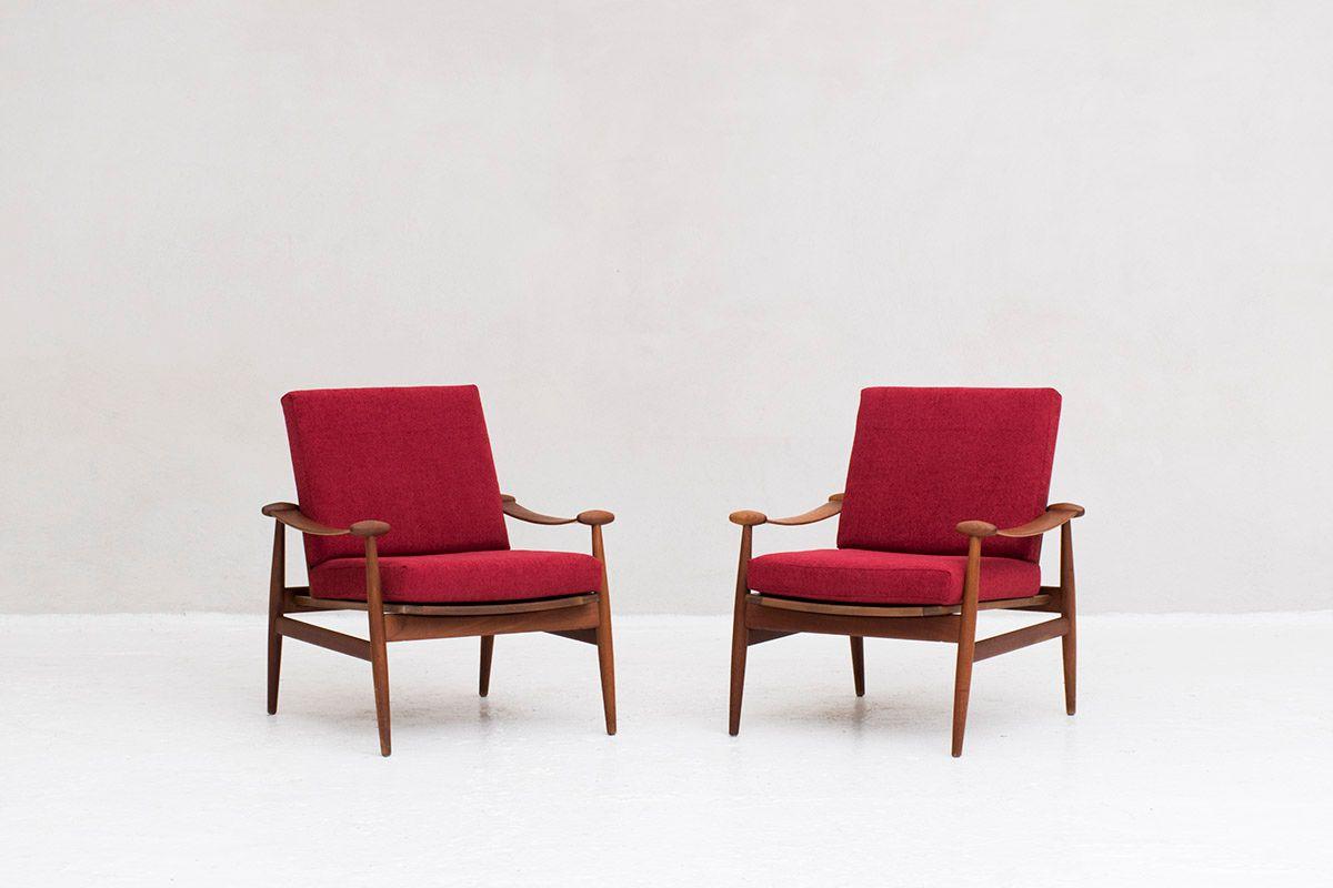 Modell FD 133 Sessel von Finn Juhl für France & Søn, 1954, 2er Set