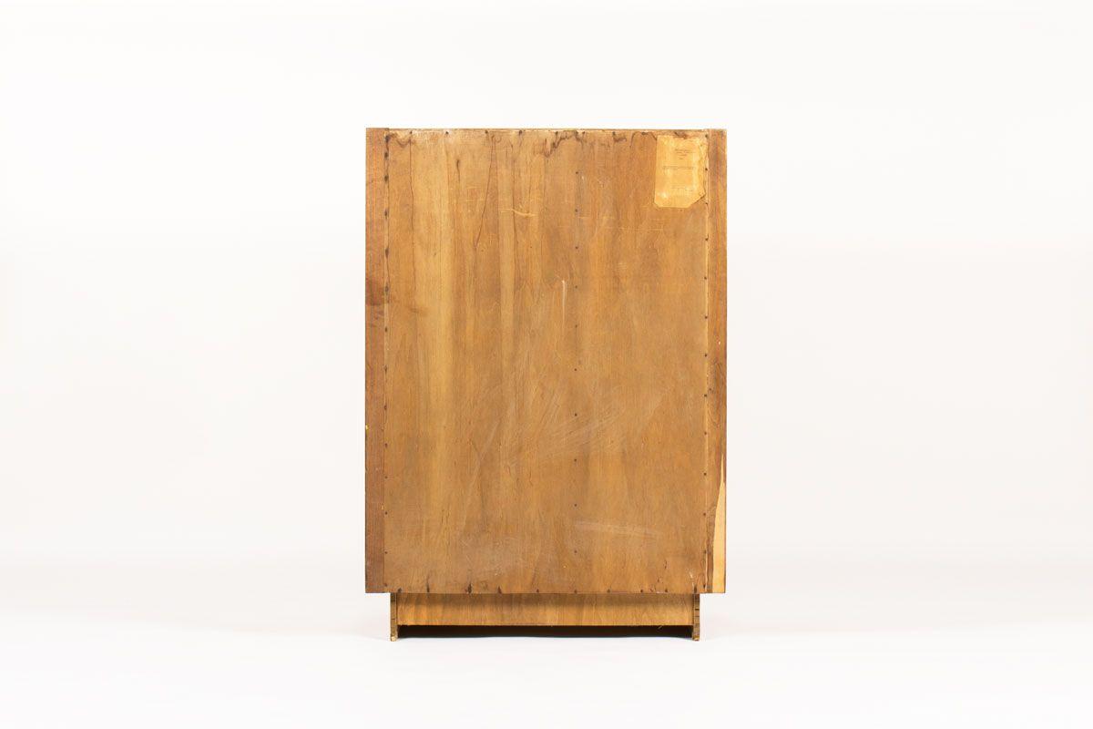 Armadio art deco in legno ed ottone di julia gaubek anni in