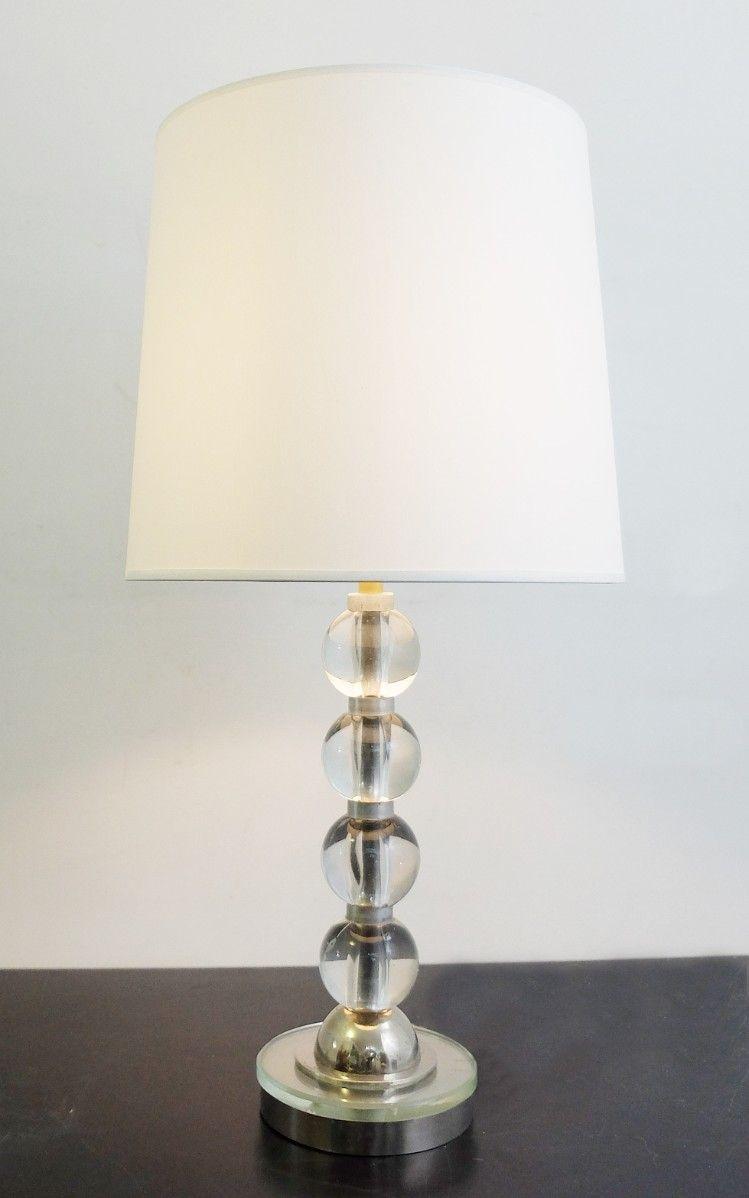 Tischlampe mit Glasschirmen, 1980er