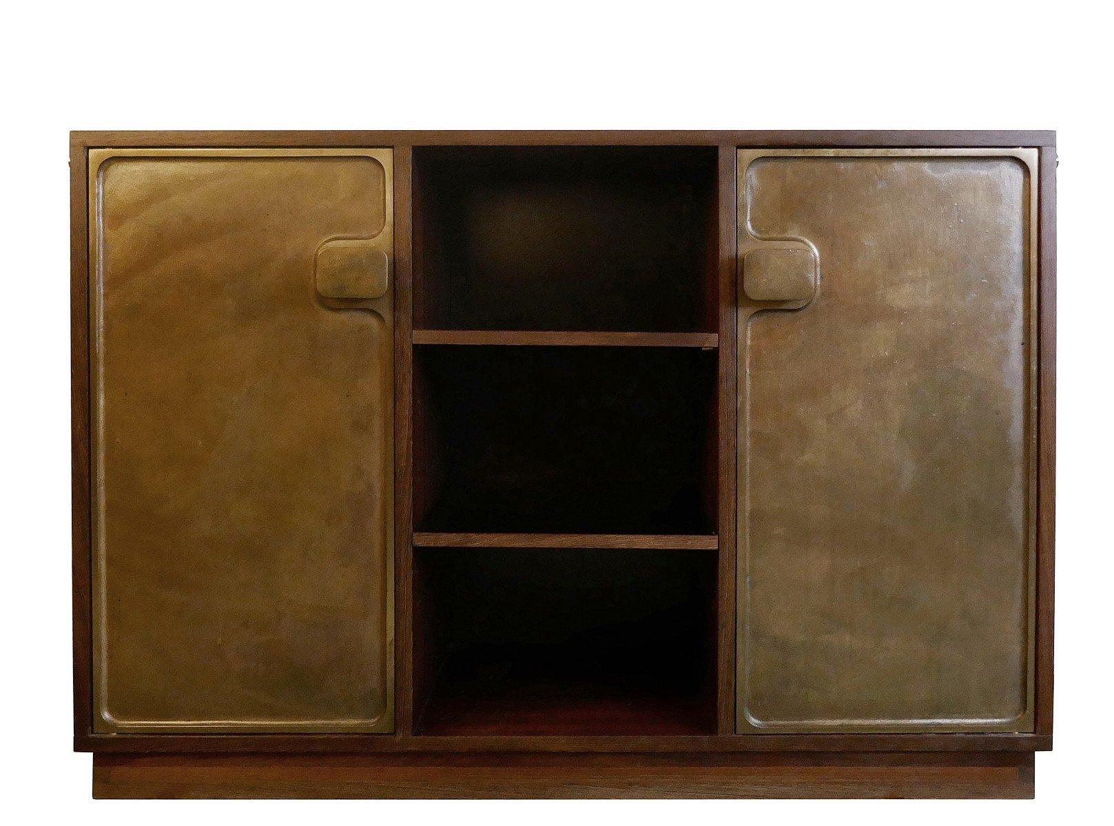 schrank mit 2 t ren aus bronze 1960er bei pamono kaufen. Black Bedroom Furniture Sets. Home Design Ideas