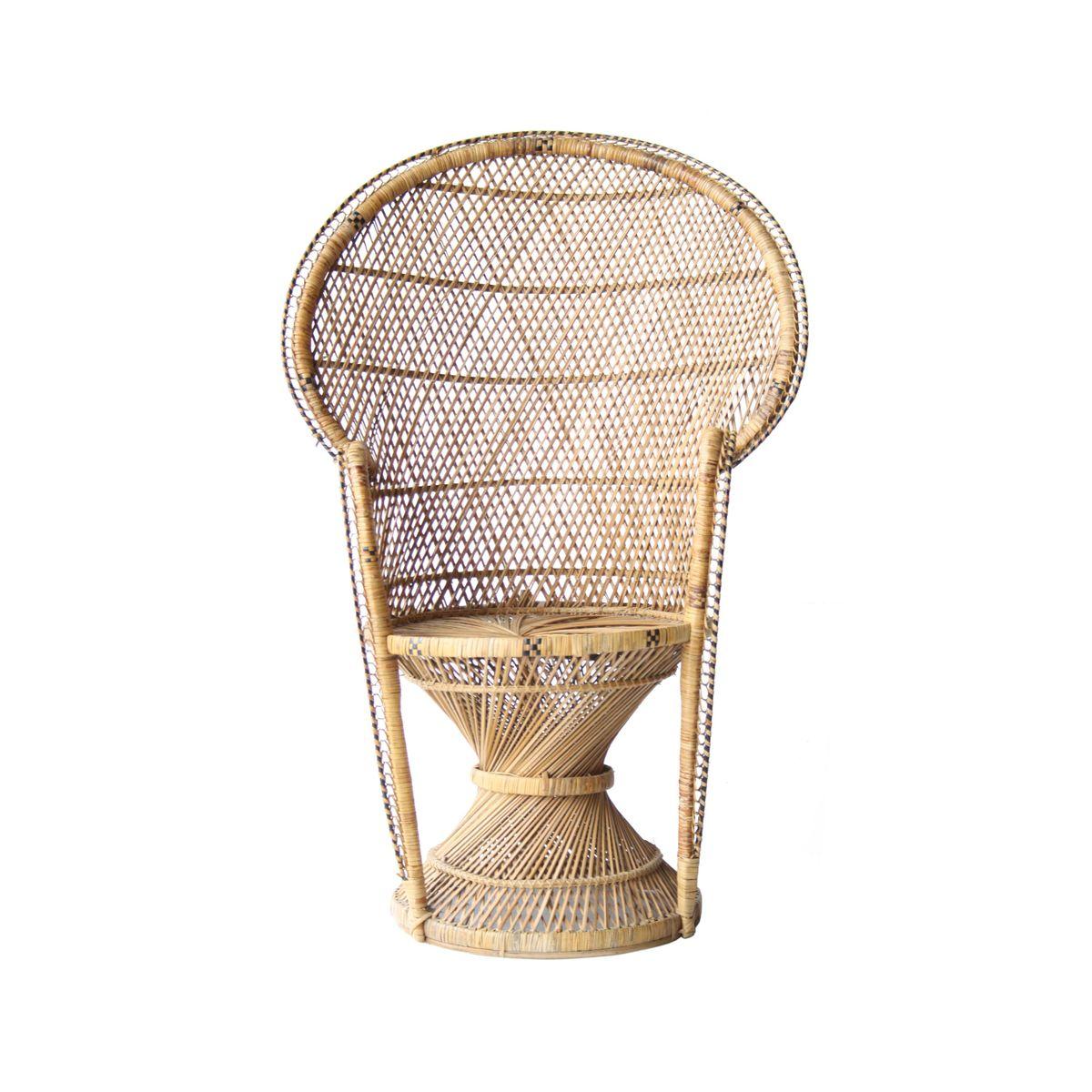 Französische geflochtene Sessel, 1960er, 2er Set