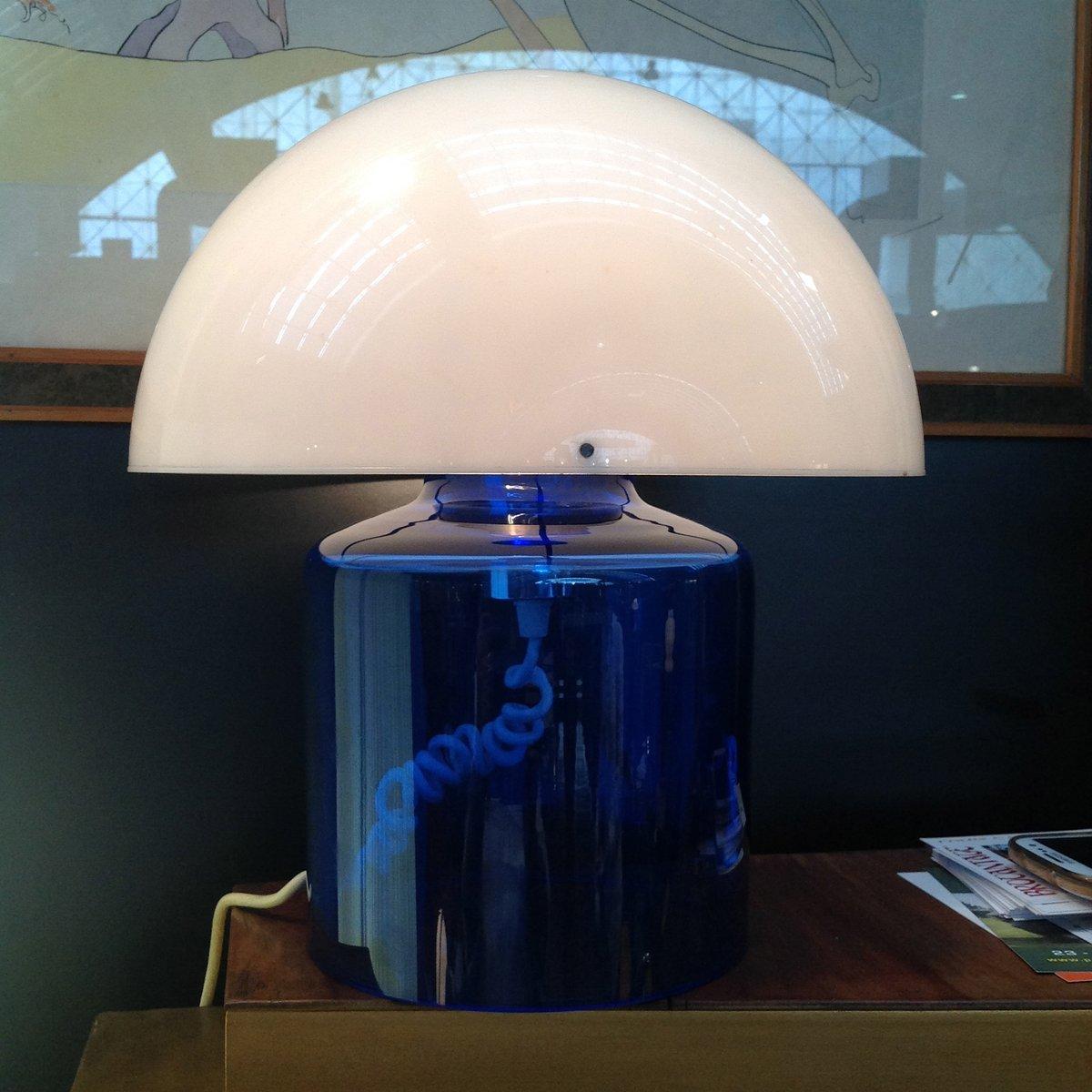 Französische Tischlampe aus Kristallglas & Plastik von Jean Daum, 1970...