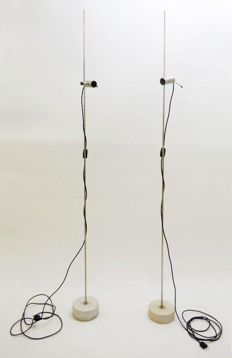 Modell 387 Stehlampe von Tito Agnoli für Oluce, 1950er