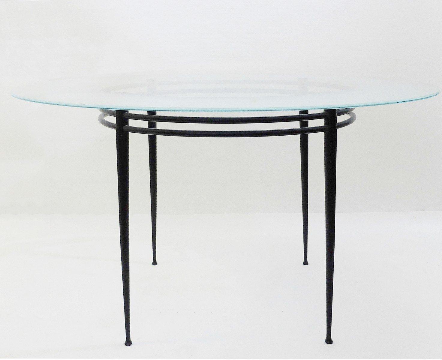 hoher lunar tisch von pascal mourgue f r artelano 1980er cafe konrad vib. Black Bedroom Furniture Sets. Home Design Ideas