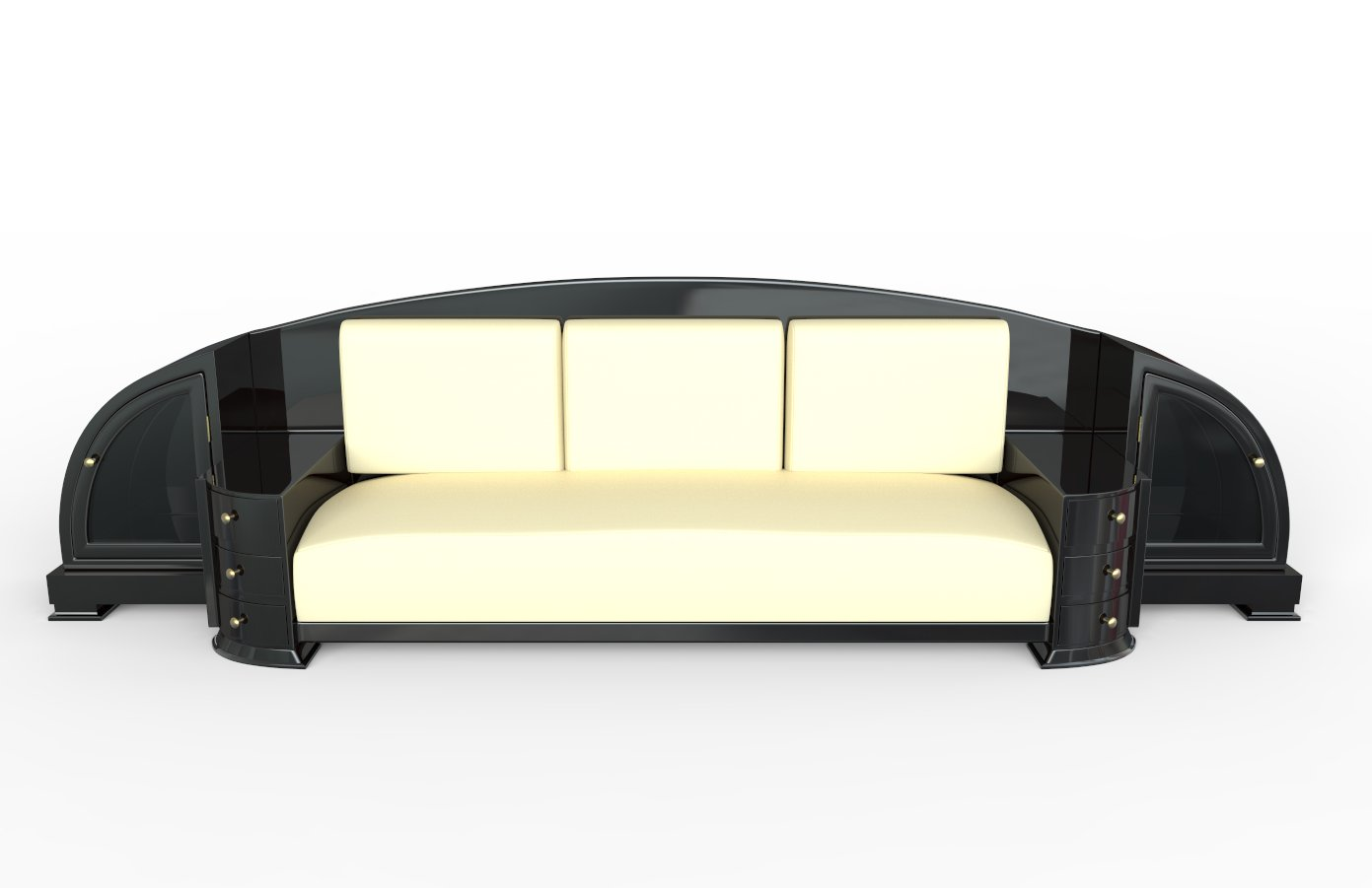 art deco black sofa 1920s for sale at pamono. Black Bedroom Furniture Sets. Home Design Ideas