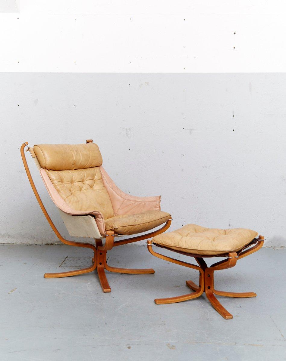 Falcon Chair & Ottomane von Sigurd Ressell für Vatne Møbler, 1970er