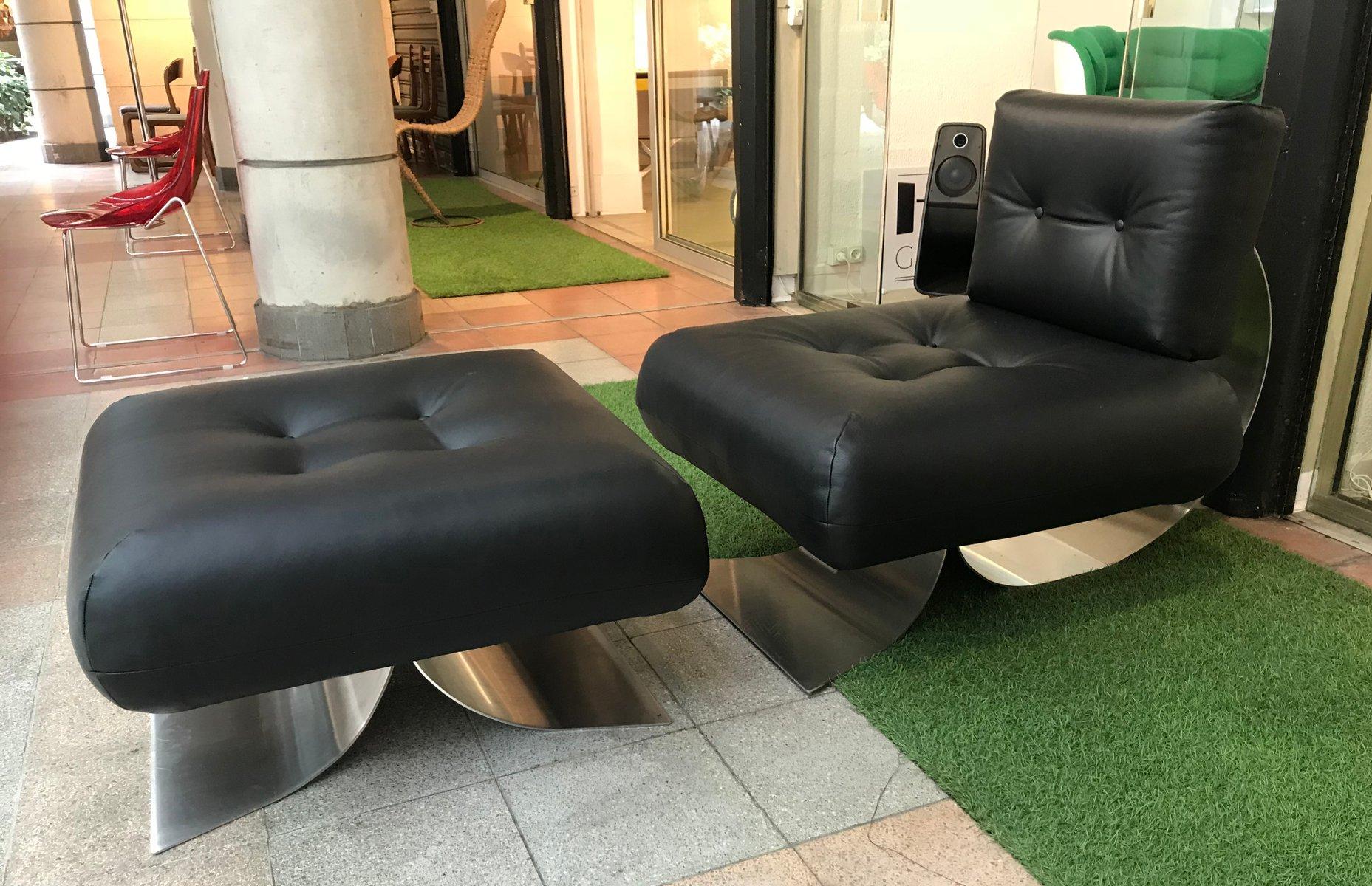 Brazilia ON1 Sessel & Ottomane von Oscar Niemeyer für Mobilier Interna...