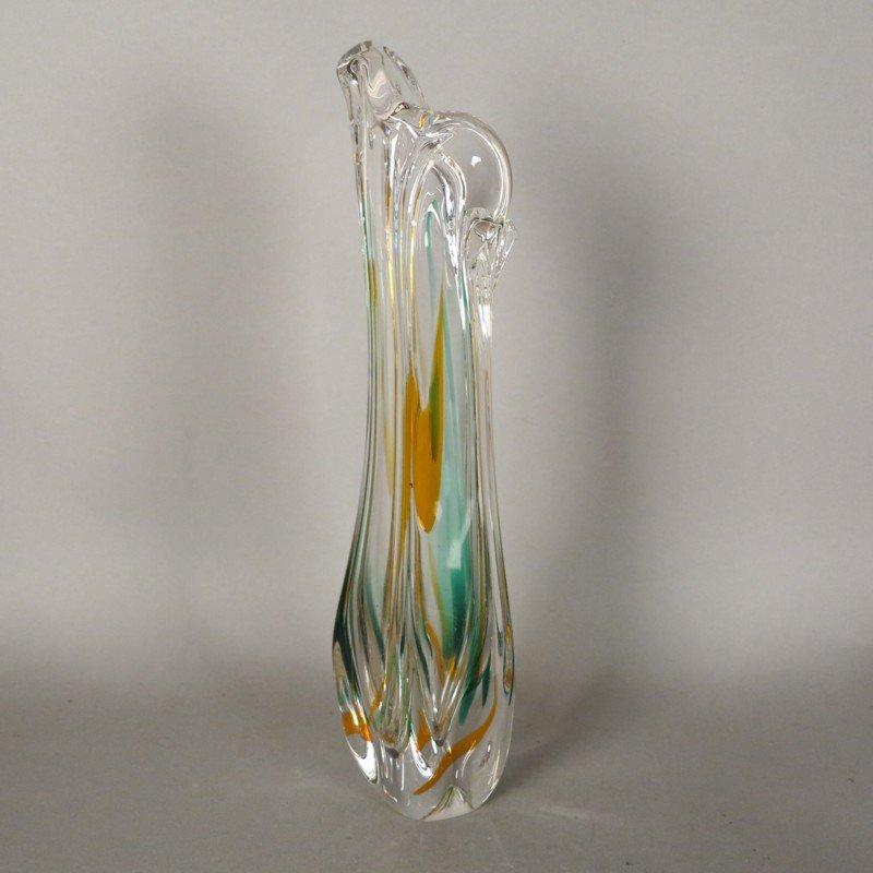 Vintage glasvase von max verboeket f r kristalunie bei - Glasvase vintage ...