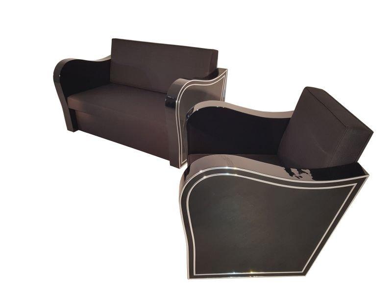 Art Deco Sofa & Sessel, 1920er