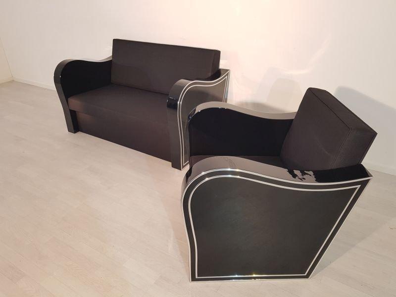 art deco sofa sessel 1920er bei pamono kaufen. Black Bedroom Furniture Sets. Home Design Ideas