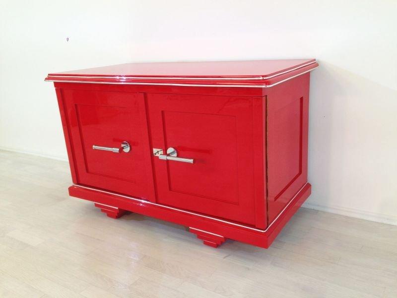 rote art deco kommode 1920er bei pamono kaufen. Black Bedroom Furniture Sets. Home Design Ideas