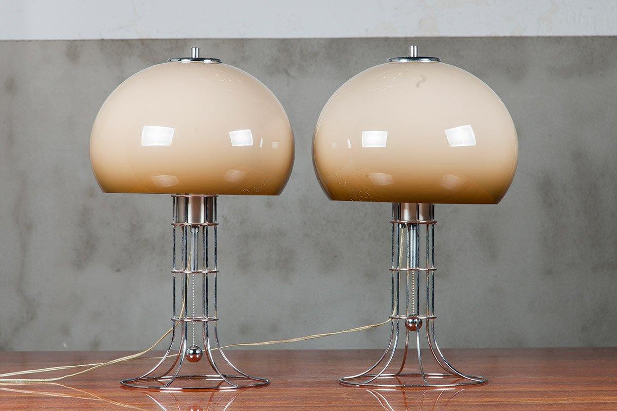 Space Age Tischlampen von Herda, 1970er, 2er Set