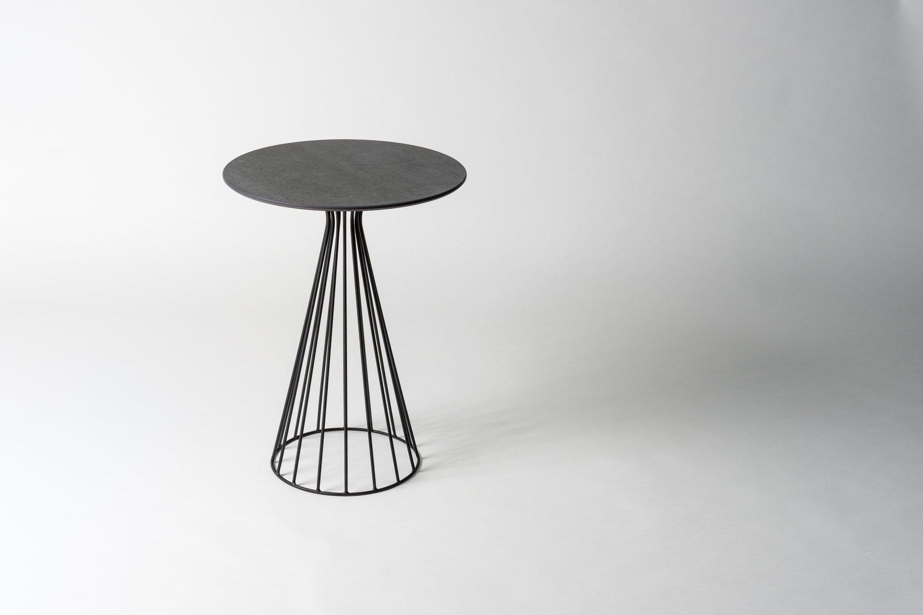 Tavolino da caffè soho in pietra di savoia di alessio elli per