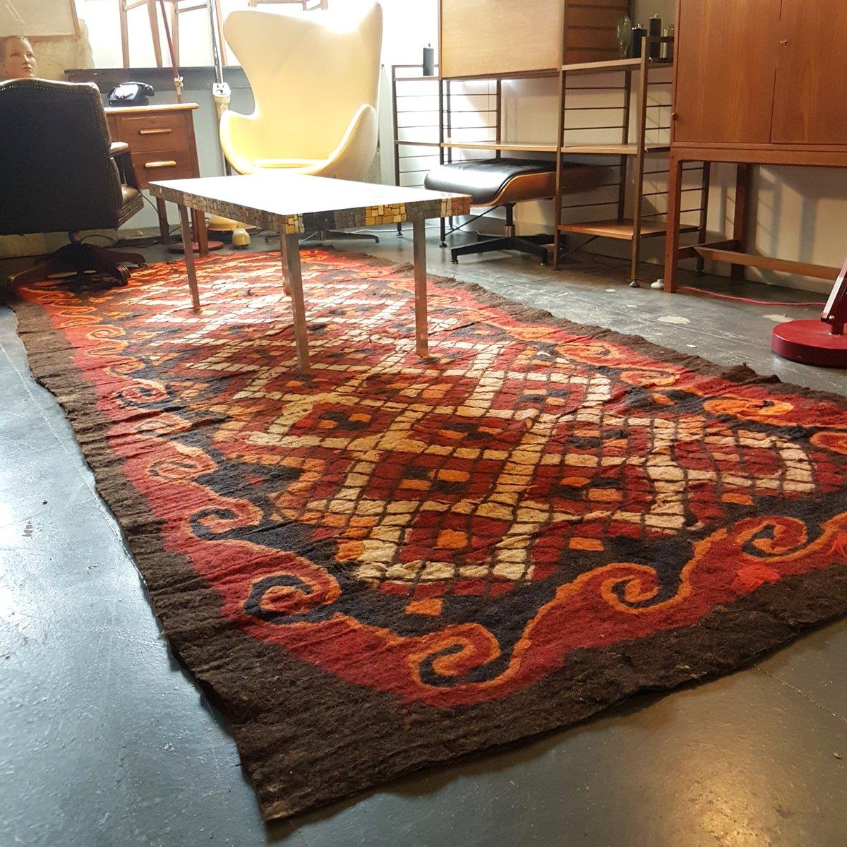 gro er antiker usbekischer teppich aus kamelhaar bei pamono kaufen. Black Bedroom Furniture Sets. Home Design Ideas