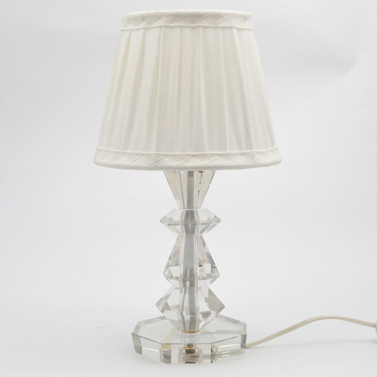 Kristallglas-Tischlampe, 1970er