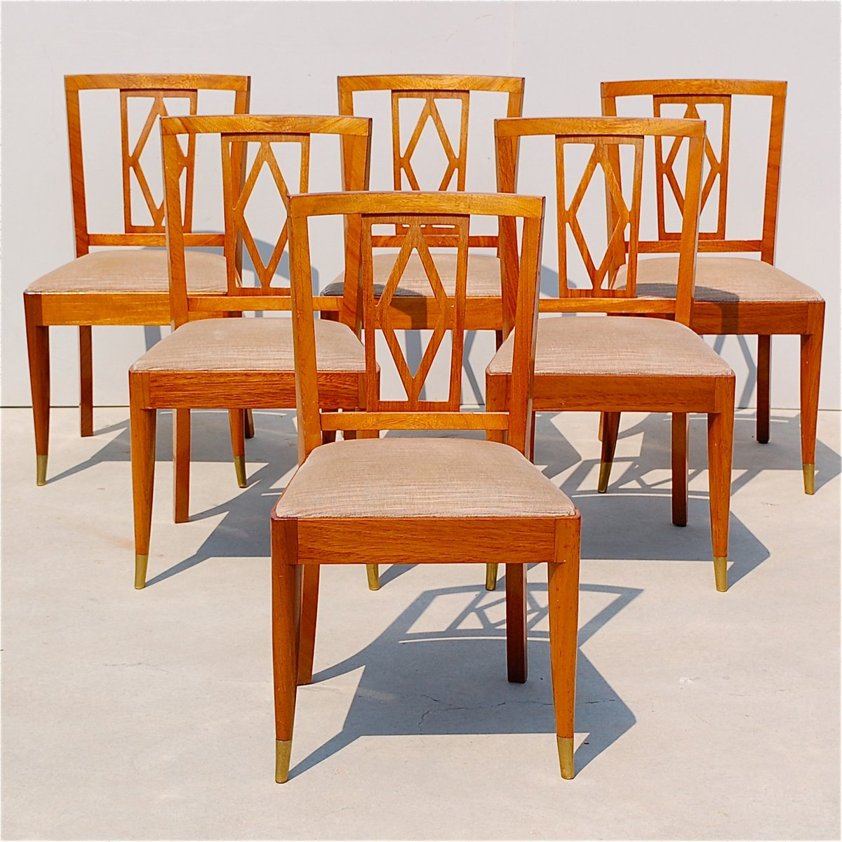 Art Deco Dining Chairs From De Coene Set Of 6 For Sale At Pamono