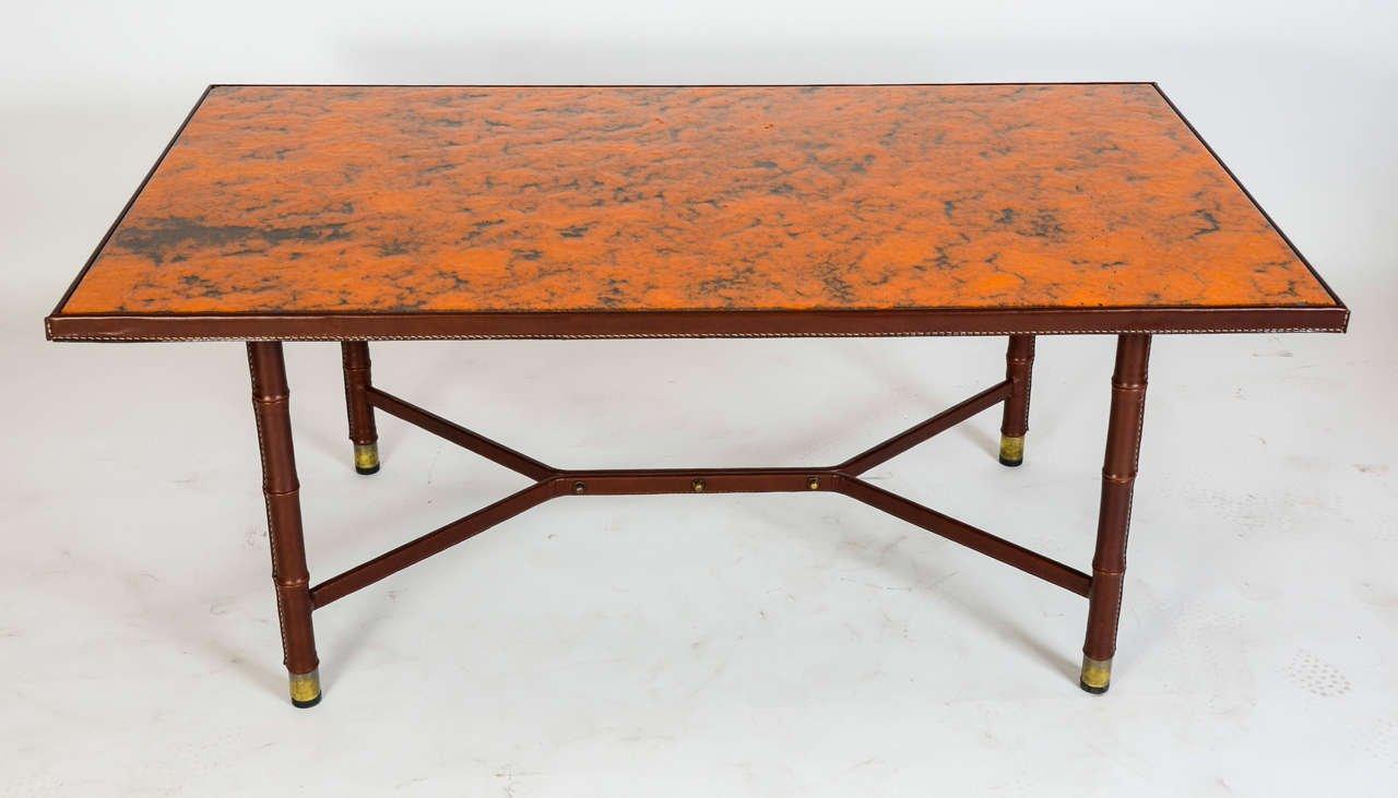 Großer Vintage Cocktail Tisch von Jacques Adnet