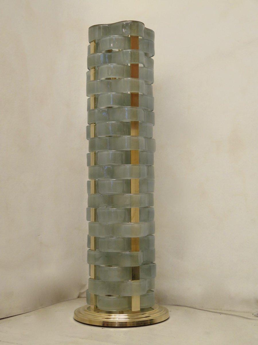 Italienische Stehlampe aus Murano Glas, 1950er