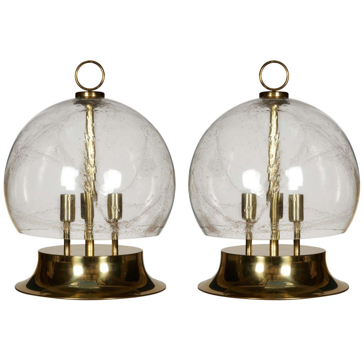 Italienische große Tischlampen, 1970er, 2er Set