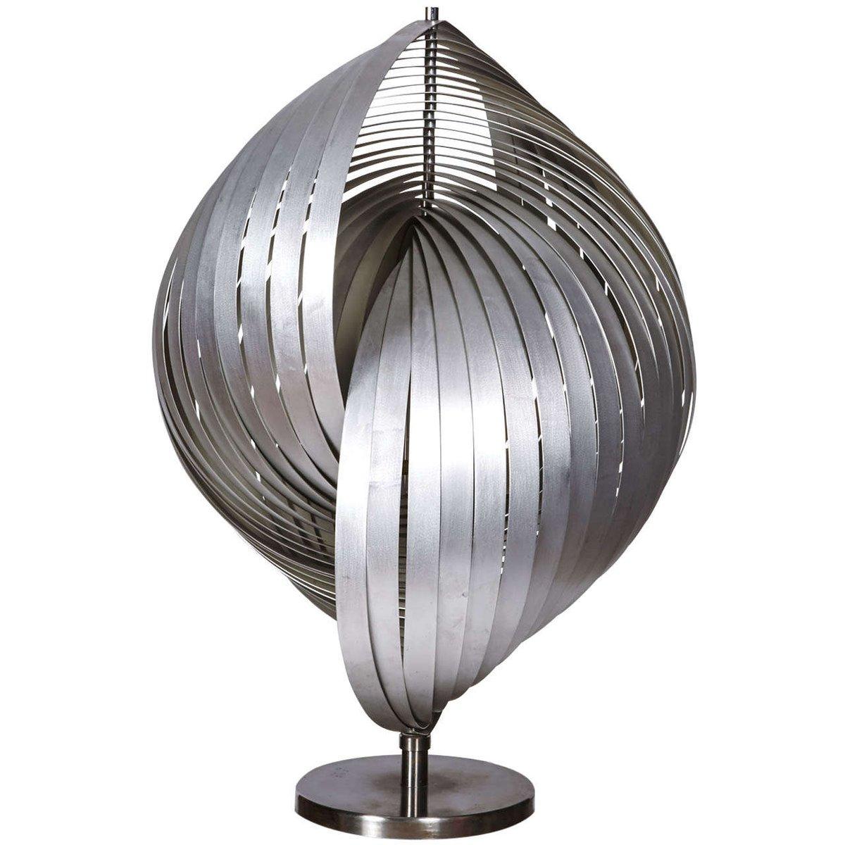 Skulpturale Tischlampe aus Stahl, 1970er