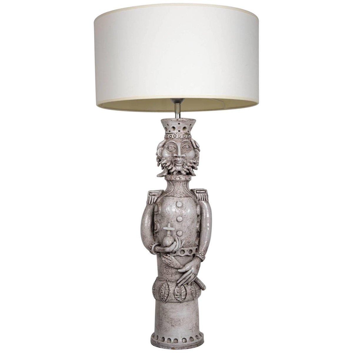 Französische Keramik King Lampe von André Marchal, 1950er