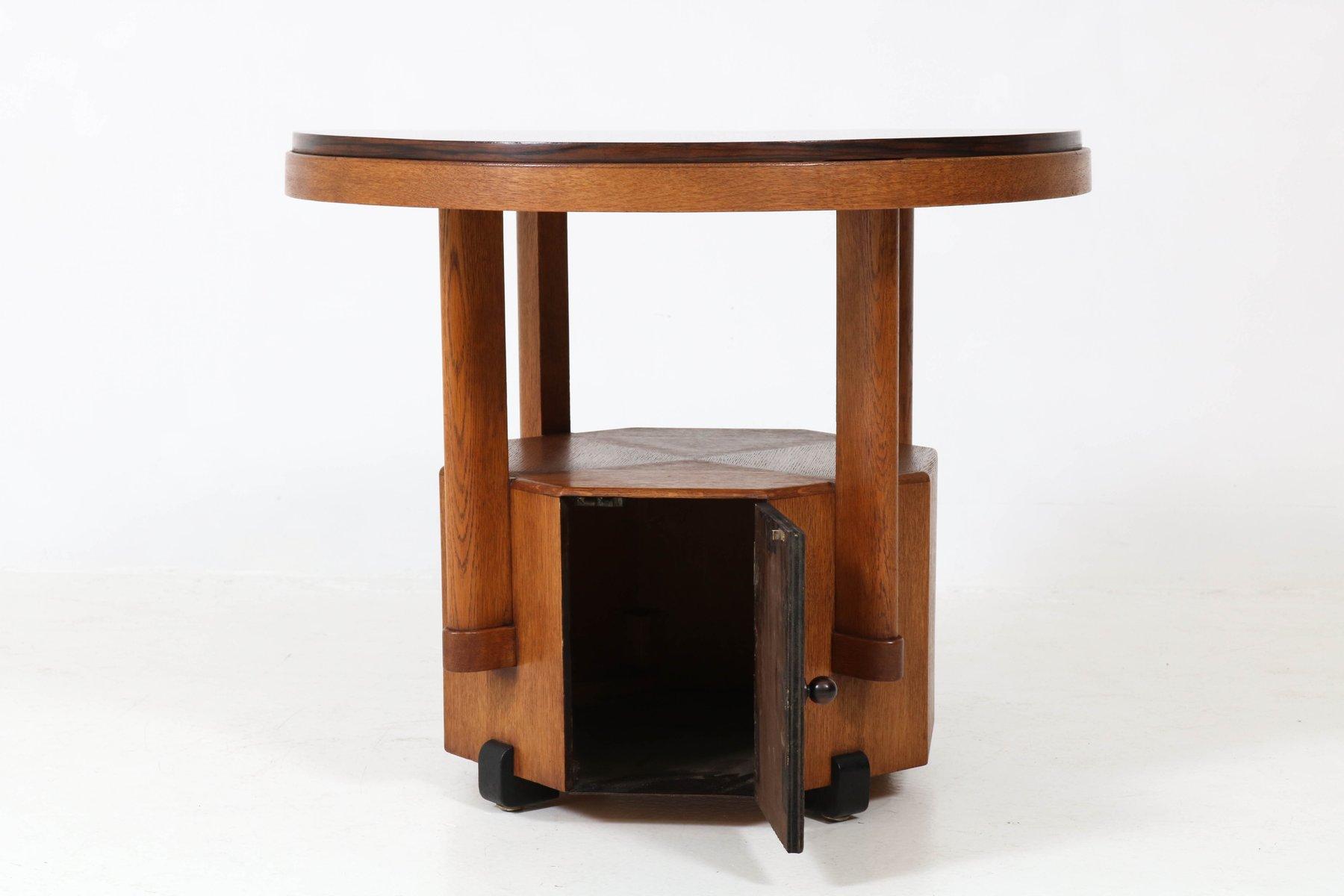 art deco haager schule couchtisch aus eichenholz macassar ebenholz 1920er bei pamono kaufen. Black Bedroom Furniture Sets. Home Design Ideas
