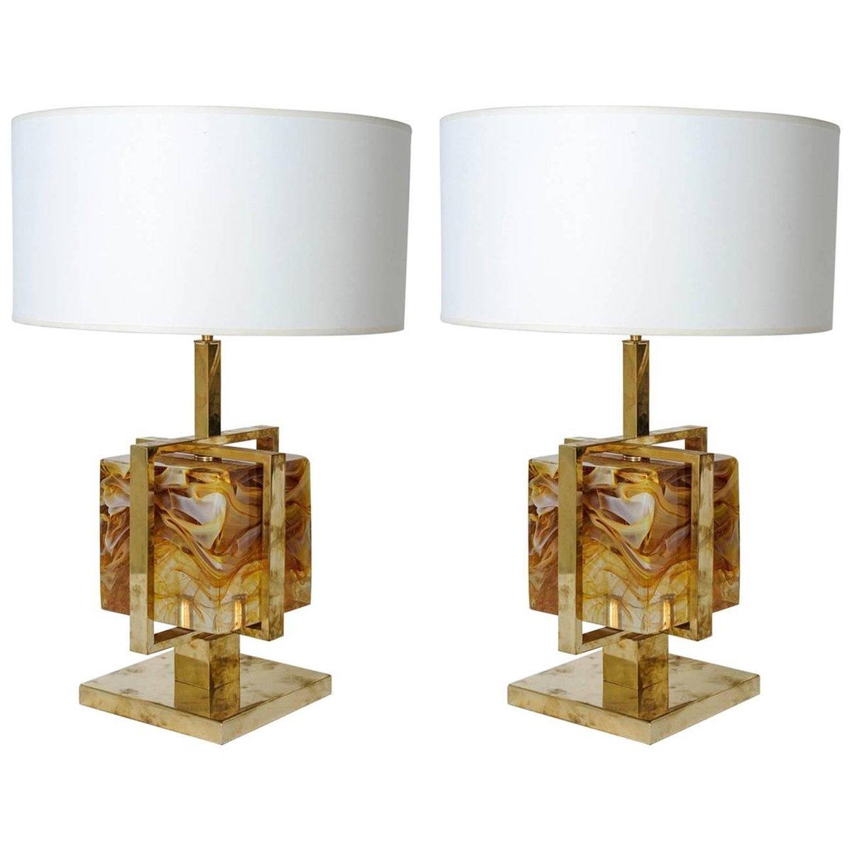 Tischlampen aus Murano Glas, 1980er, 2er Set