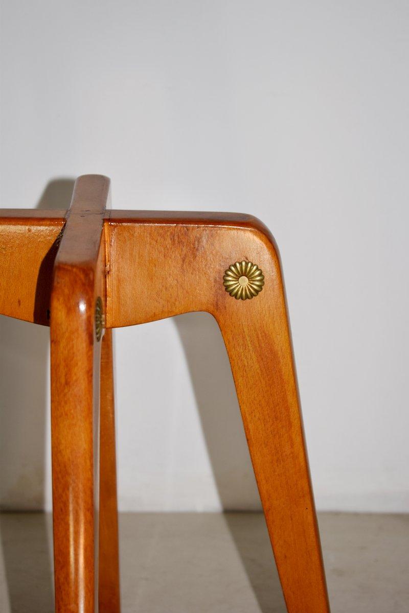 italienische mid century holz und glas couchtische 1950er 2er set bei pamono kaufen. Black Bedroom Furniture Sets. Home Design Ideas