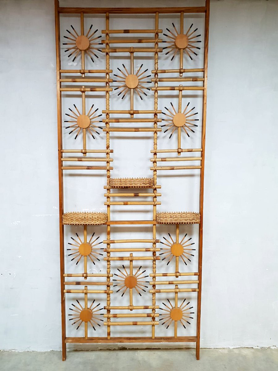 Mid Century Bambus Wandregal Oder Raumtrenner Bei Pamono Kaufen