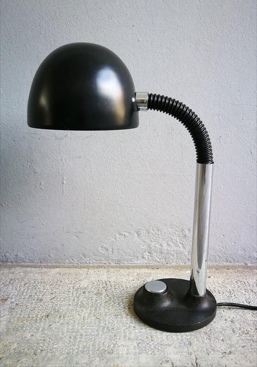 Space Age Schreibtischlampe in Schwarz von Egon Hillebrand, 1970er