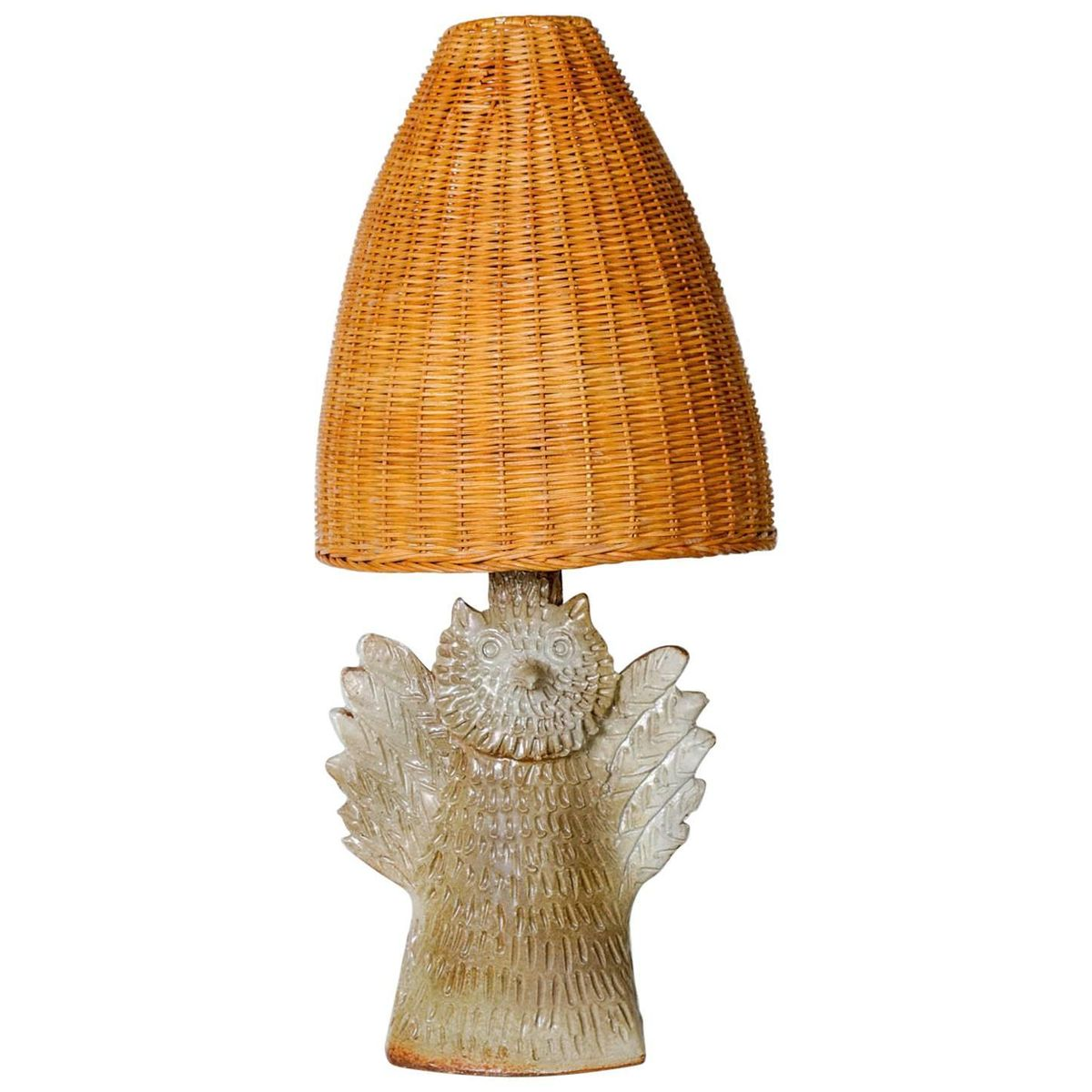 Owl table lamp in vallauris ceramic 1950s for sale at pamono owl table lamp in vallauris ceramic 1950s aloadofball Choice Image