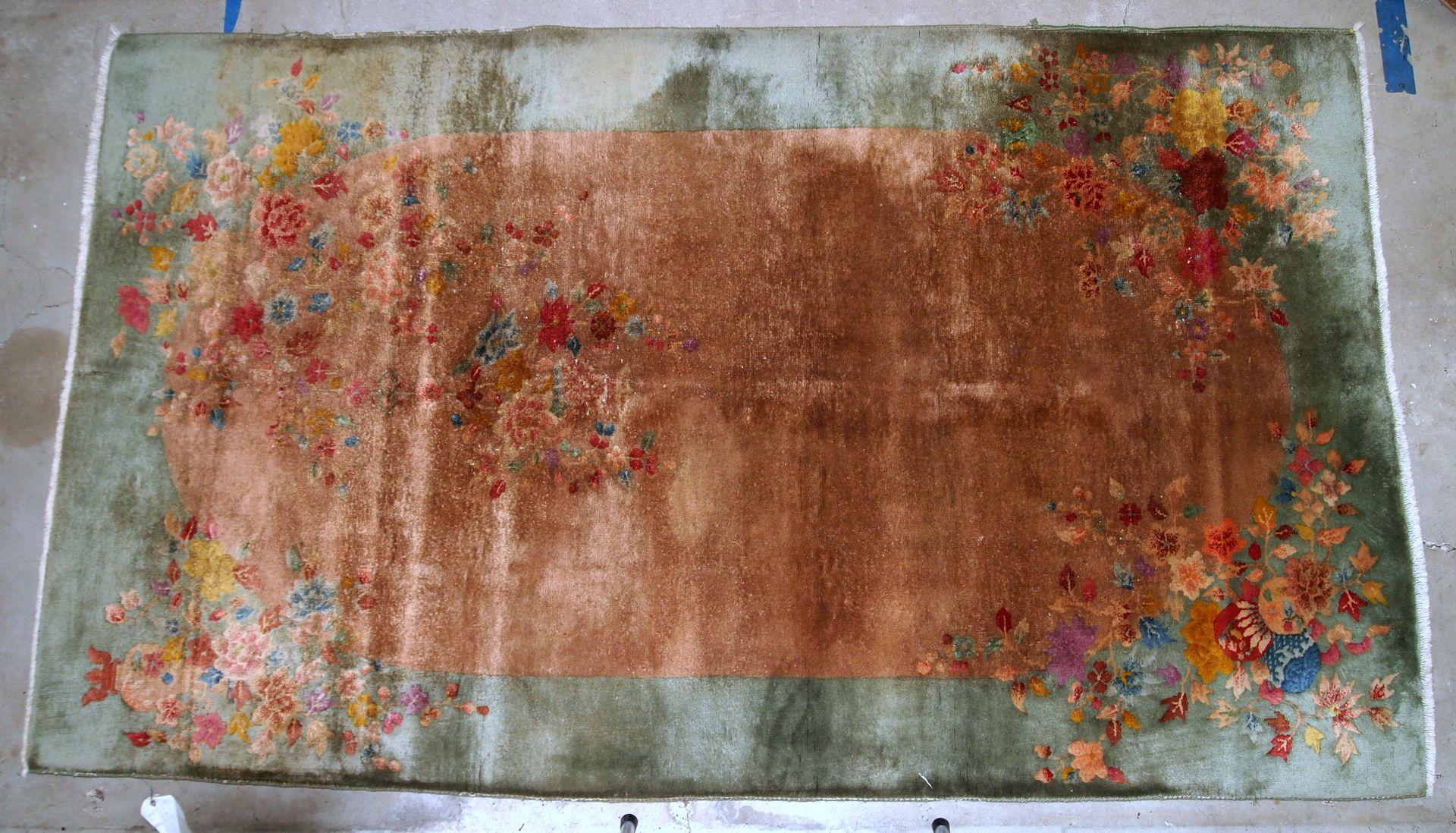 handgefertigter chinesischer art deco teppich 1920er bei pamono kaufen. Black Bedroom Furniture Sets. Home Design Ideas