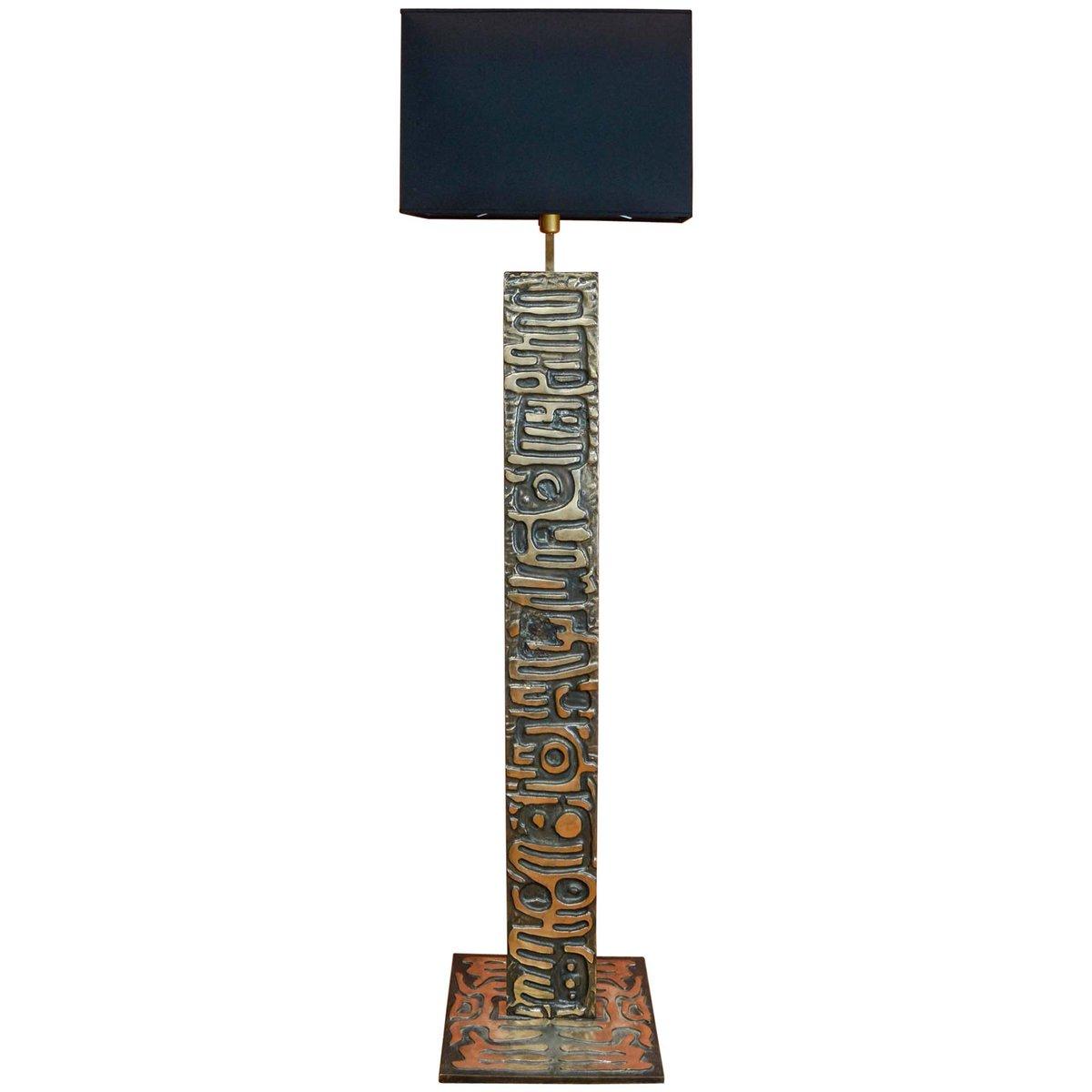 Vintage Stehlampe aus Bronze von Enzo Missoni