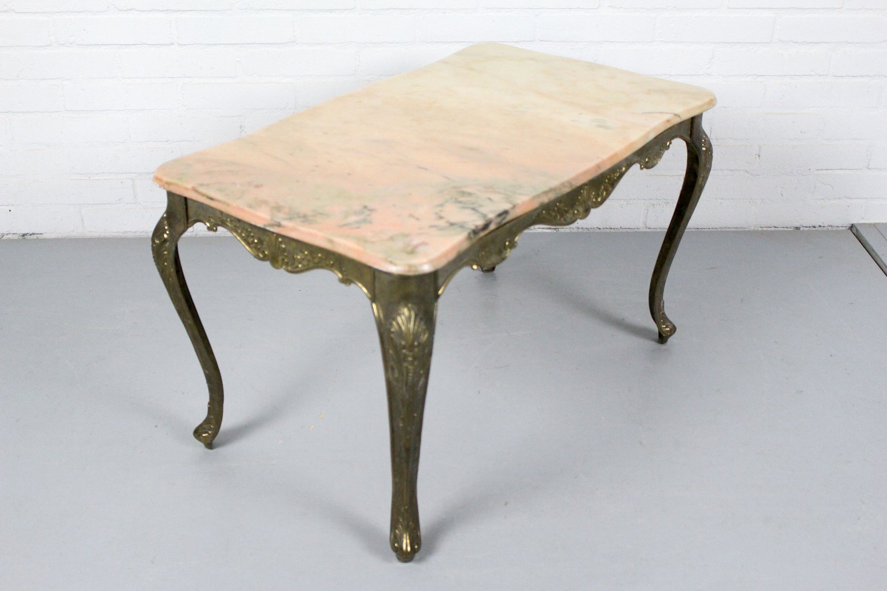 French Marble Brass Coffee Table S For Sale At Pamono - Marble and brass end table