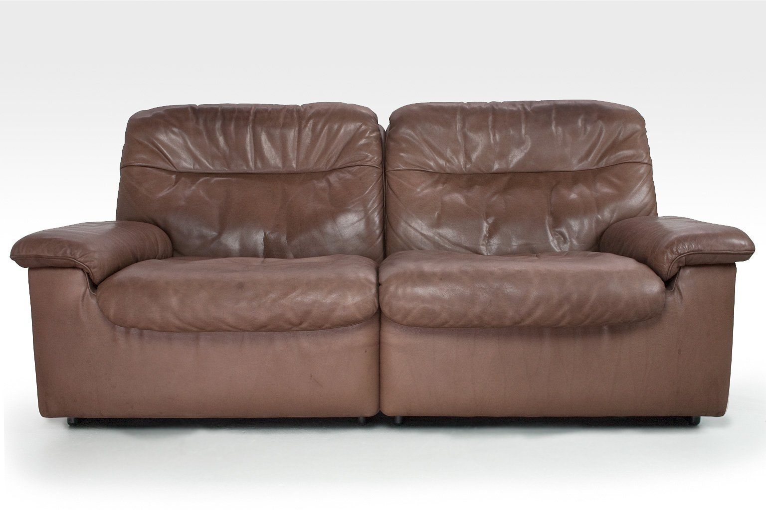 ds 66 2 sitzer ledersofa von de sede 1970er bei pamono kaufen. Black Bedroom Furniture Sets. Home Design Ideas