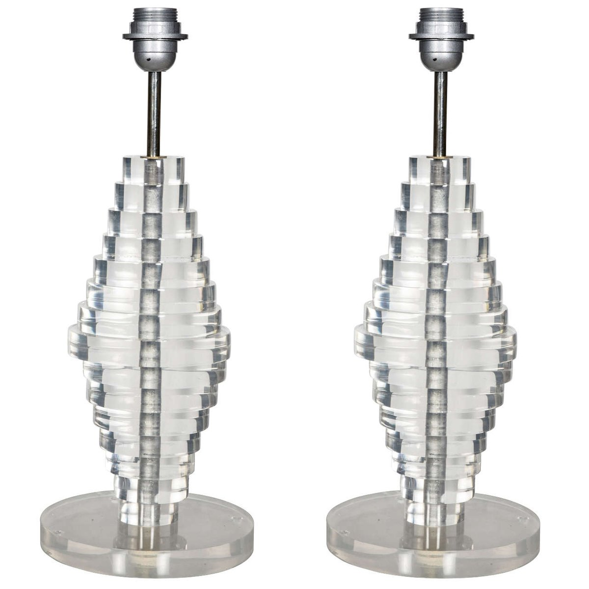 Vintage Lampen aus Plexiglas, 2er Set