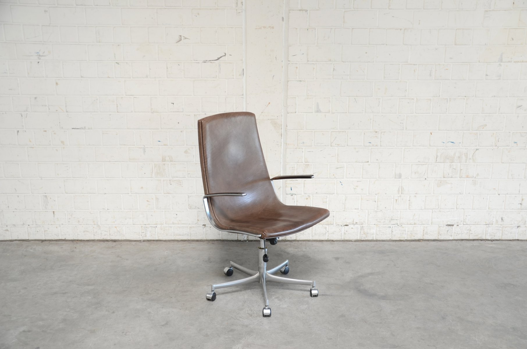 Vintage Model Logos Swivel Desk Chair By Bernd Münzebrock For Walter Knoll