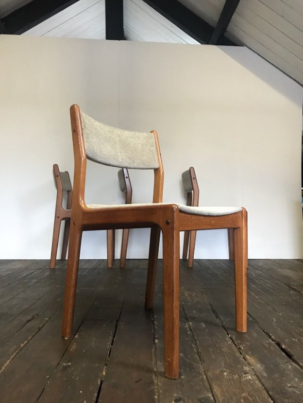 Mid Century Danish Teak Dining Chairs By Eric Buch For