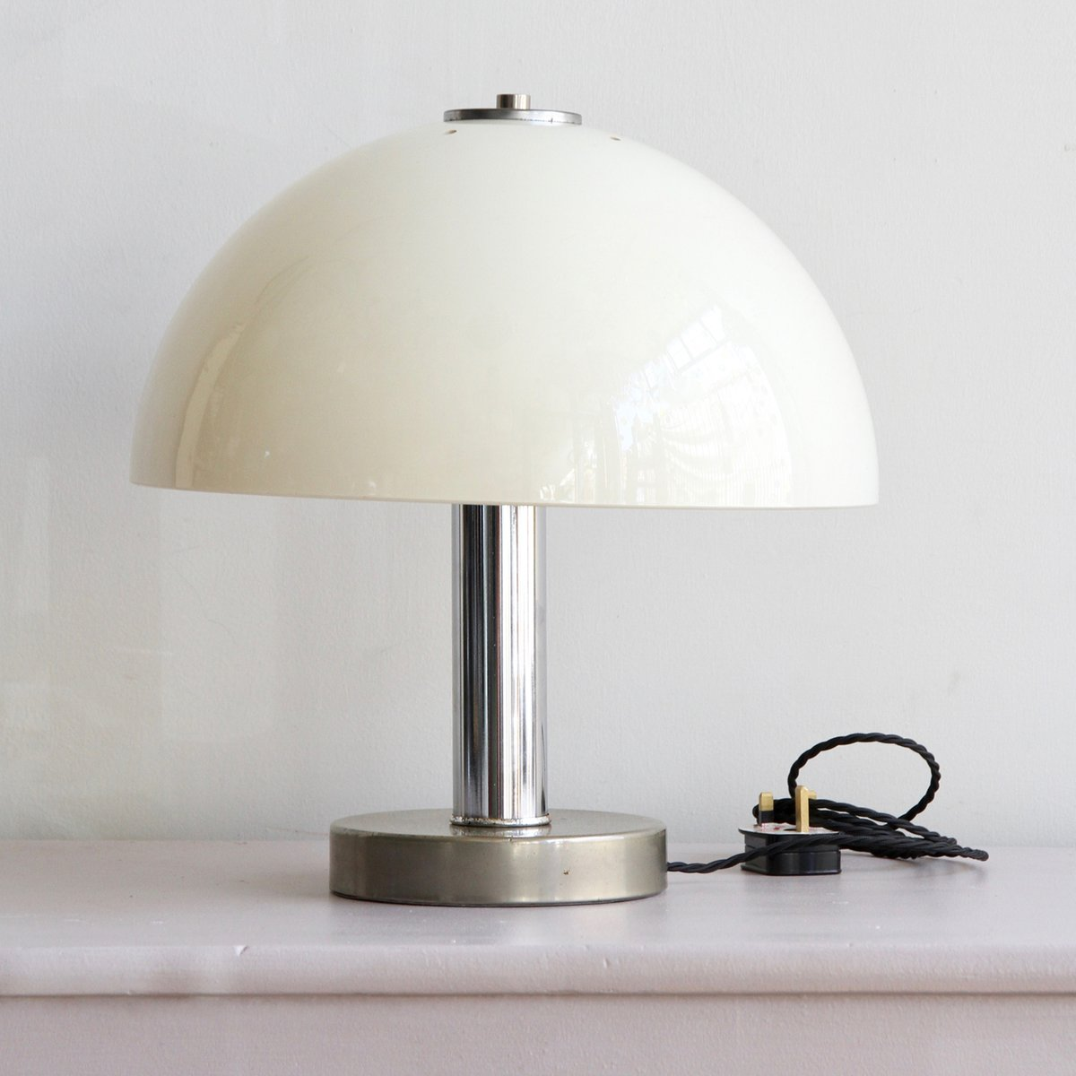 Mushroom Tischlampe aus Chrom & Plexiglas von Prova, 1970er