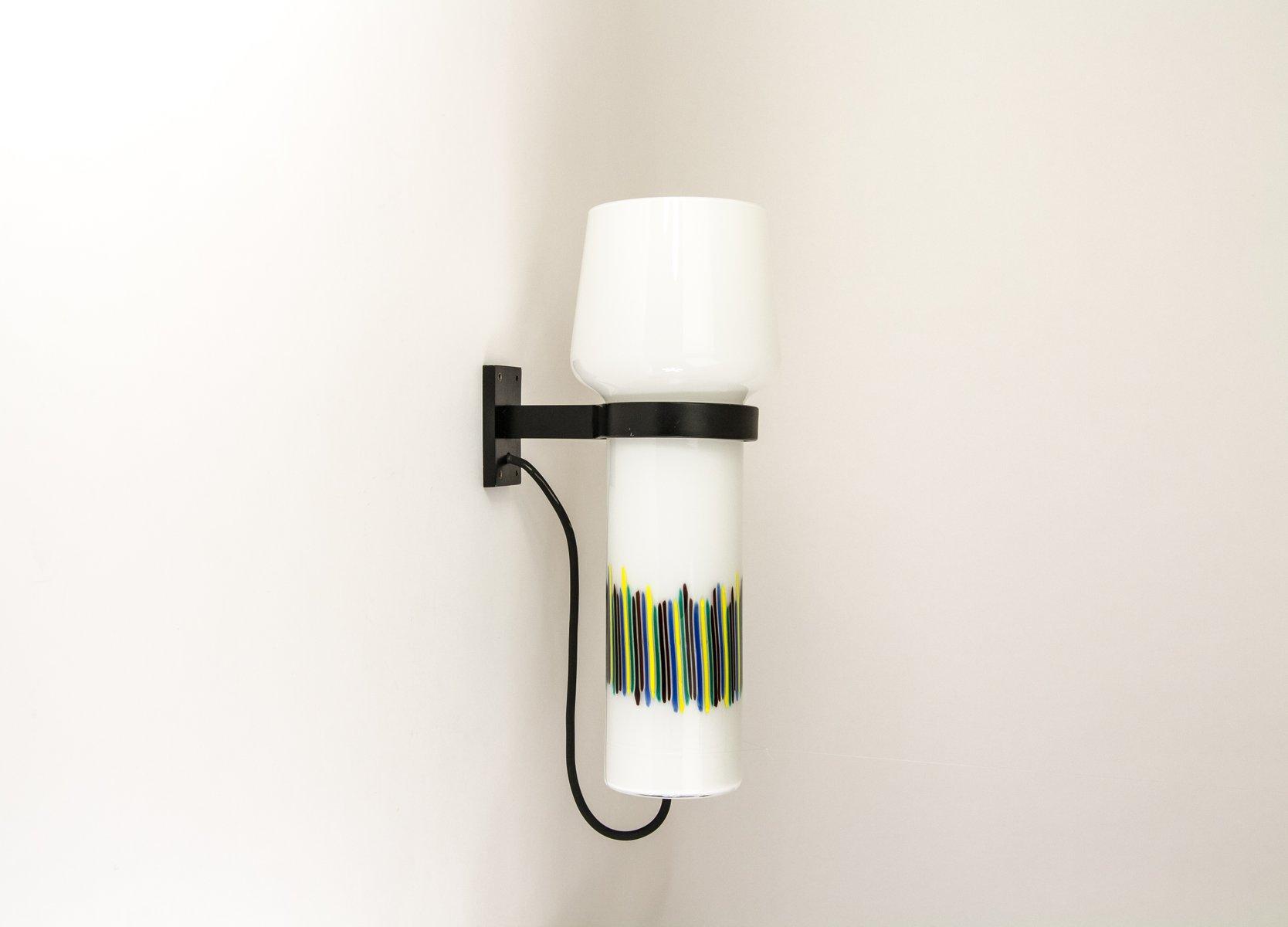Polychrome handgeblasene Wandlampe von Massimo Vignelli für Venini, 19...