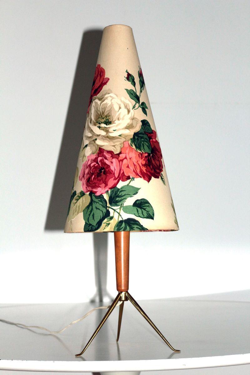 Tischlampe von Rupert Nikoll, 1960er